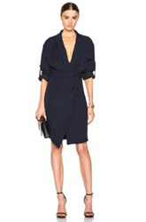 Alexandre Vauthier Wrap Dress In Blue