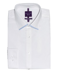 Slim Fit Double Two Formal Shirt White