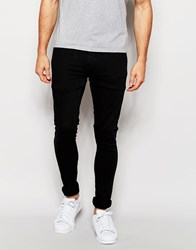 Only And Sons Black Jeans In Skinny Fit