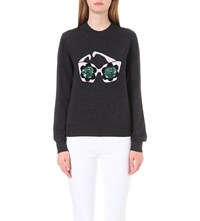 Markus Lupfer Daisy Sunglasses Grace Knitted Jumper Charcoal