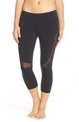Alo Yoga Women's Alo 'Curvature' Mesh Inset Capri Leggings Black