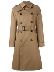 Hyke Belted Trench Coat Nude And Neutrals