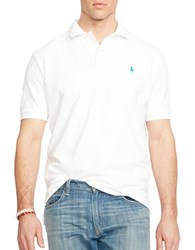 Polo Big And Tall Classic Fit Mesh T Shirt White