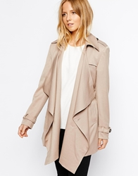Jovonnista Sala Waterfall Trench Coat Camel
