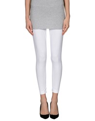 Pinko Grey Trousers Leggings Women White
