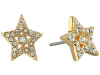 Marc Jacobs Mj Coin Tiny Star Pave Studs Earrings Crystal Gold
