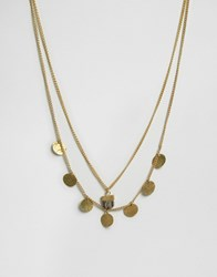 Made Cupped Layered Necklace Gold