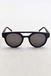 Komono Dreyfuss Black Rubber Series Round Sunglasses
