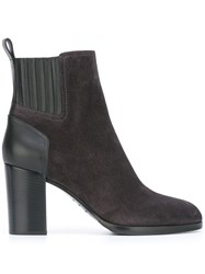 Sergio Rossi Chunky Heel Ankle Boots Grey
