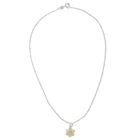 Martick Mini Gold Plated Daisy Pendent Necklace Gold Silver