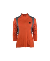 Antigua Women's Baltimore Orioles Delta Pullover Orange