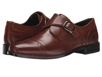 Nunn Bush Newton Cap Toe Monk Strap Brown Men's Monkstrap Shoes