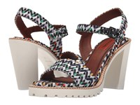 Missoni Raschel Heel Multi Sandal Black White