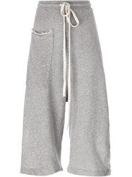 Lost And Found Ria Dunn Side Slit Cropped Pants Grey