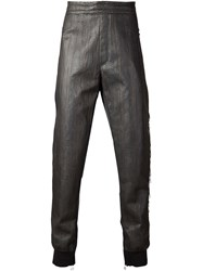 Lanvin Contrasting Panel Track Trousers Grey
