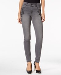 Styleandco. Style Co. Embroidered Dark Shadow Wash Skinny Jeans Only At Macy's