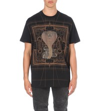 Givenchy Snake Print Cotton Jersey T Shirt Black Brown