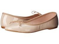 Summit White Mountain Kendall Nude Patent Leather Women's Slip On Shoes Beige