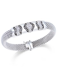 Macy's Diamond Mesh Bracelet 1 3 Ct. T.W. In Sterling Silver