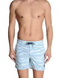 Woolrich Swimming Trunks Light Grey
