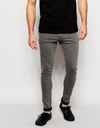 Only And Sons Washed Grey Jeans In Skinny Fit