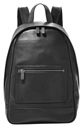 Skagen 'Kroyer' Leather Backpack Black