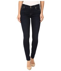 7 For All Mankind Skinny W Squiggle In Dark Dusk Indigo Dark Dusk Indigo Women's Jeans Blue