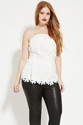 Forever 21 Plus Size Crochet Cami Ivory