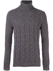 Woolrich Cable Knit Jumper Grey