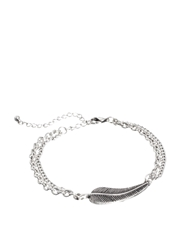 Asos Bracelet With Feather Silver
