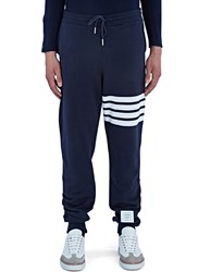 Thom Browne 4 Bar Jersey Track Pants Navy