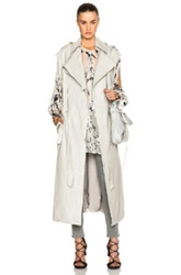Zimmermann Fortune Leather Trench In Neutrals Gray