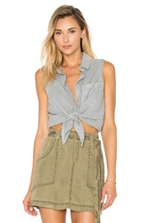 Bella Dahl Seams Back Tank Gray