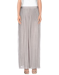 Blumarine Long Skirts Light Grey