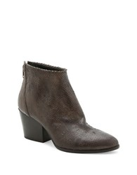 Andre Assous Fify Snake Textured Ankle Boots Charcoal Grey