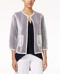 Alfani Open Front Mesh Jacket Only At Macy's Bright White