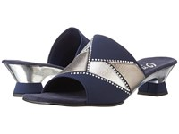 Onex Mozaic Navy Silver Pewter Women's Dress Sandals