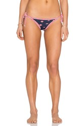 Seafolly Riviera Coast Tie Side Brazilian Bottom Navy