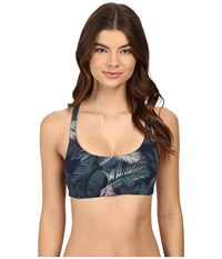 Carve Designs Hana Bikini Top Anchor Palm Beach Women's Swimwear Blue