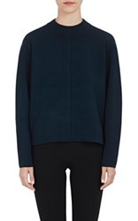 Proenza Schouler Women's Cashmere Blend Double Faced Sweater Dark Green