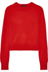 Kate Moss For Equipment Ryder Cashmere Sweater Red
