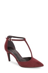 Charles By Charles David Women's 'Lodge' T Strap Pump Merlot