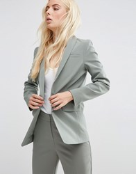 Asos Premium Tailored Edge To Edge Blazer Sage Green