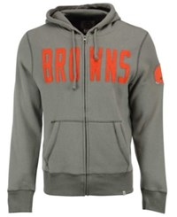 '47 Brand Men's Cleveland Browns Cross Check Full Zip Hoodie