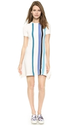 Opening Ceremony Stripe Handkerchief Dress Sheer Pink Multi