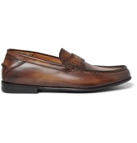 Berluti Burnished Leather Loafers Brown