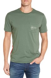 Brixton Men's 'Fury' Pocket Graphic T Shirt Cypress