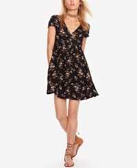 Denim And Supply Ralph Lauren Floral Print Button Front Dress Midnight Floral