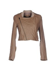 See U Soon Coats And Jackets Jackets Women Khaki