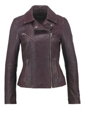 Oakwood Leather Jacket Bordeaux